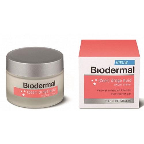 Biodermal Biodermal Nachtcreme Droge Huid - 50 Ml