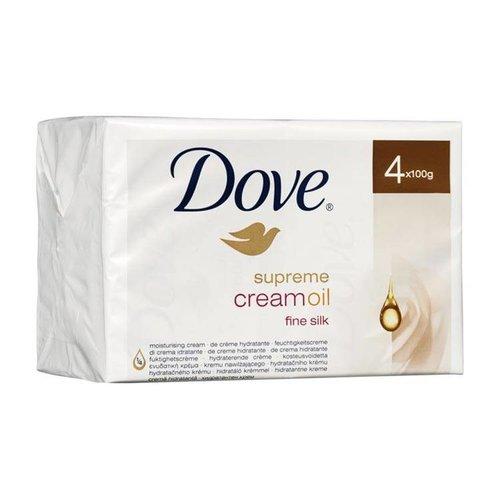 Dove Dove Wastablet Supreme Silk Cream Oil - 4x100 Gram