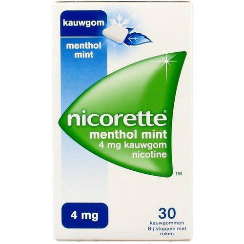 Nicorette Nicorette Kauwgom Mentholmint 4 Mg - 30 Stuks