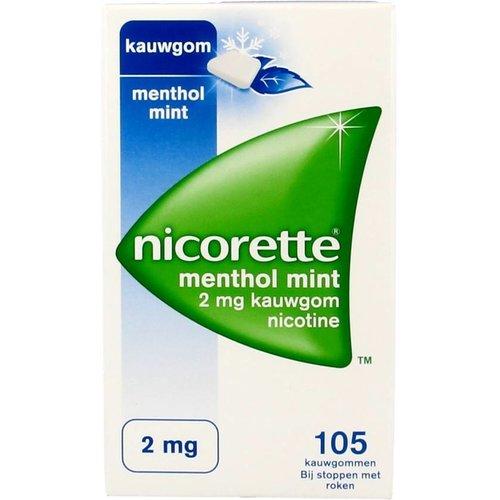 Nicorette Nicorette Kauwgom Mentholmint 2 Mg - 105 Stuks