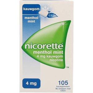 Nicorette Nicorette Kauwgom Mentholmint 4 Mg - 105 Stuks
