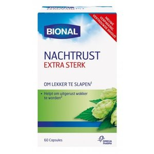 Bional Bional Nachtrust Extra Sterk Melatonine - 60 Capsules