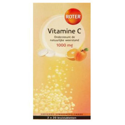 Roter Roter Vit C Bruis Duo Abricoos- Sinas - 2x20 Tabletten