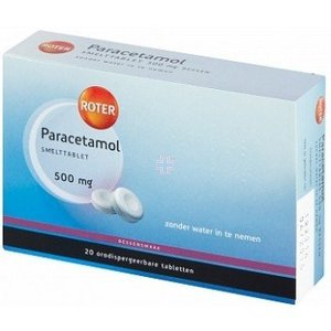 Roter Roter Paracetamol 500mg Smelt - 20 Tabletten