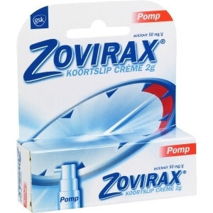 Zovirax Zovirax Creme Koortslip Pomp - 2 Gram