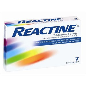 Reactine Reactine Anti-Histaminicum 10 Mg - 7 Tabletten