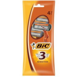 Bic Bic 3 Wegwerpmesjes Sensitive - 4 Stuks