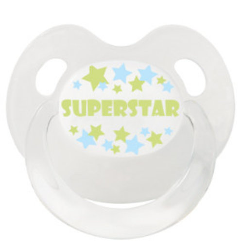 Bibi Bibi Fopspeen Superstar 0-6 Mnd - 1 Stuks