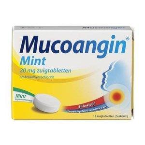 Mucoangin Mucoangin Zuigtabletten Pepermunt - 18 Stuks