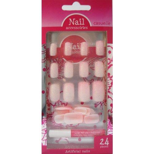 Casuella NAIL PINK CASUELLE - 24 STUKS