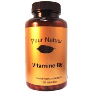Puur Natuur Puur Natuur Vitamine B6 -100 Tabletten