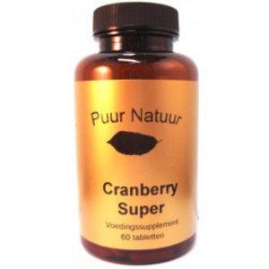 Puur Natuur Puur Natuur Cranberry Super - 60 Tabletten