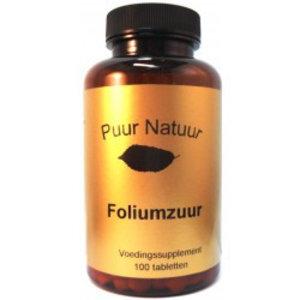 Puur Natuur Puur Natuur Foliumzuur - 100 Tabletten