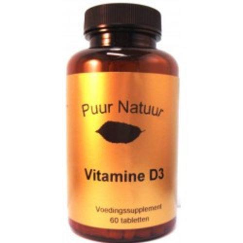 Puur Natuur Puur Natuur Vitamine D3 - 60 Tabletten