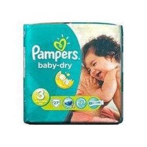 Pampers Pampers Baby Dry Midi 3 4-9 Kg - 27 Stuks