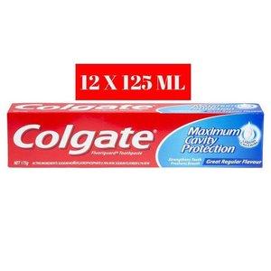 Colgate 12 X Colgate Tandpasta Maximum Cavity Protection - 125 Ml