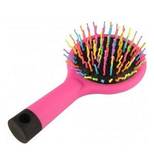 Haarborstel Haarborstel Roze Met Spiegel - 1 Stuks