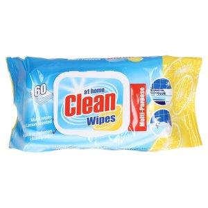 At Home At Home Clean Wipes Citrus - 60 Stuks
