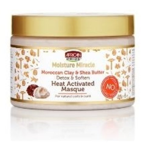 African Pride African Pride Moisture Miracle Moroccan Clay&Shea Butter Heat Activated Masque 340ml