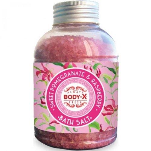 Body-X Body-X Sweet Pomegranate & Raspberry Badzout - 600 Gram