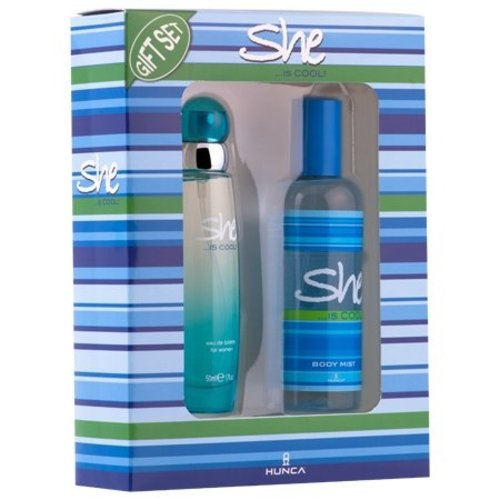 She SHE IS COOL CADEAUVERPAKKING EDT SPRAY 50 ML & DEO 150 ML - 1 STUKS