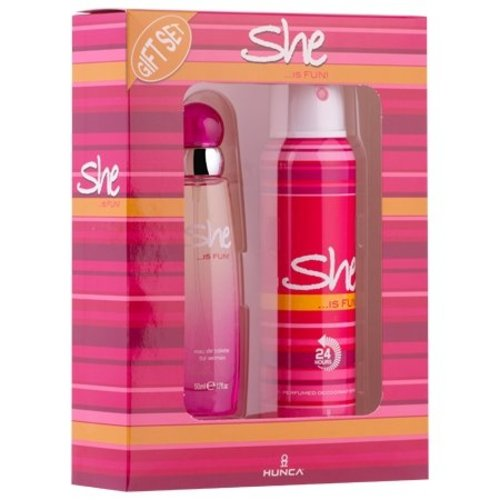 She SHE IS FUN CADEAUVERPAKKING EDT SPRAY 50 ML & DEO 150 ML - 1 STUKS