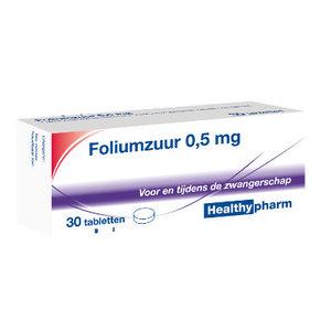 Healthypharm Healthypharm Foliumzuur 0,5 Mg - 30 Tabletten