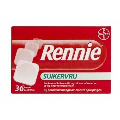 Rennie Rennie Suikervrij - 36 Tabletten