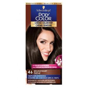 Poly Poly Color Creme 46 Bruinzwart - 1 Stuks