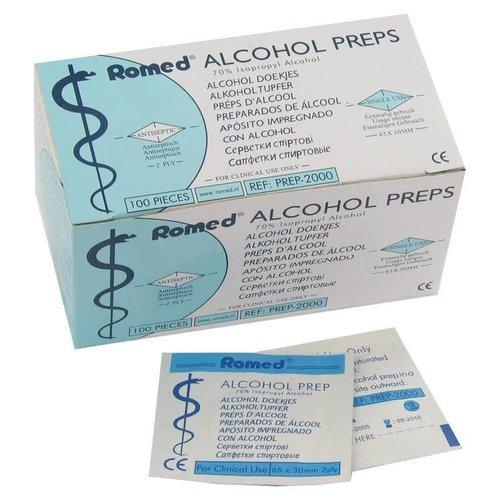 Romed Romed Alcohol Doekjes - 100 Stuks