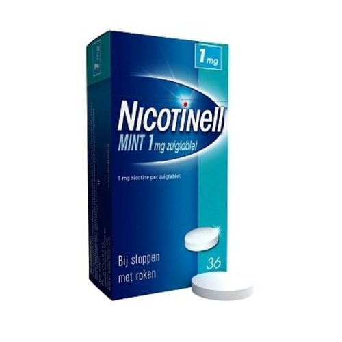 Nicotinell Nicotinell Zuigtablet 1 Mg Mint - 36 Tabletten