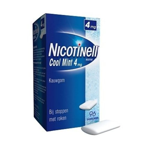 Nicotinell Nicotinell Kauwgom 4mg Mint - 96 Stuks