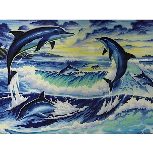 Diamond Painting Dolfijn H340 40 cm x 50 cm