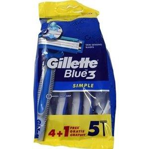 Gillette Gillette blue3 wegwerpmesjes 5 stuks