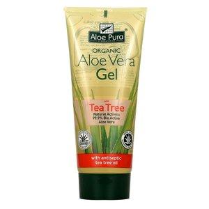 Aloe pura Aloe pura organic aloe vera gel with tea tree 200 ml