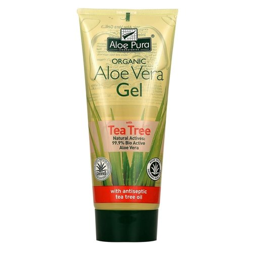 Aloe pura Aloe pura organic aloe vera gel with tea tree 200 ml