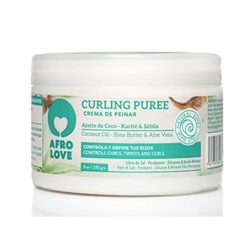 Afro love Afro love curling puree coconut/shea butter/aloe vera 450 gram