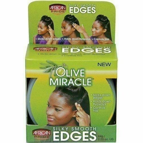 African Pride African Pride Olive Miracle Silky Smooth Edges 64 gram