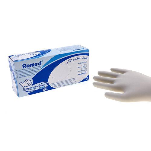 Romed Romed latex handschoenen xs 100 paar