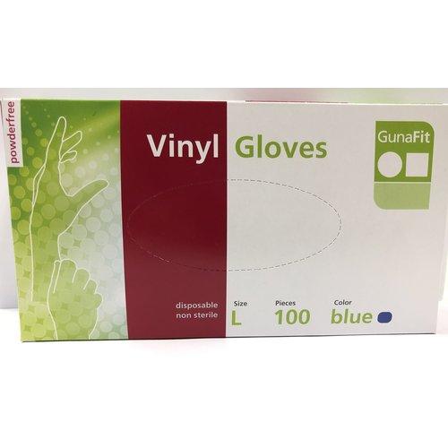 Lifetime Handschoenen vinyl blauw 100 stuks Maat Xl