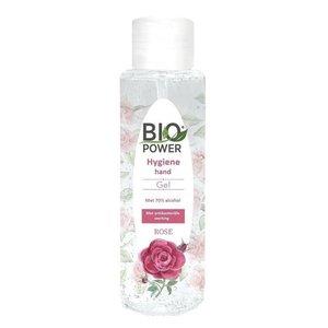 Biopower Biopower handgel 100 ml met 70% alcohol rozengeur