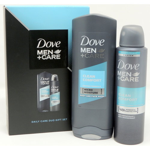 Dove Dove Geschenkset  - Men Care Clean Comfort - Douche + Deospray