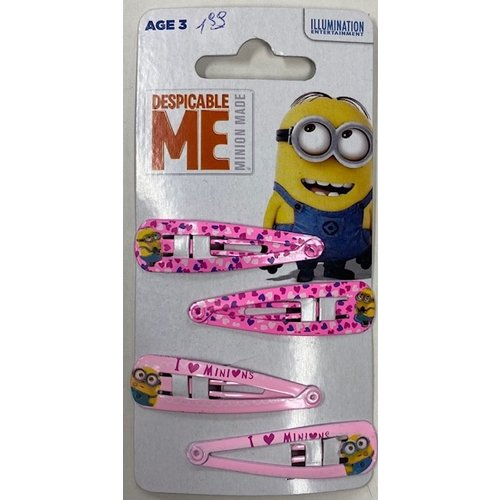 Minions Despicable Me Minion Made - Haarspeld 4 Stuks
