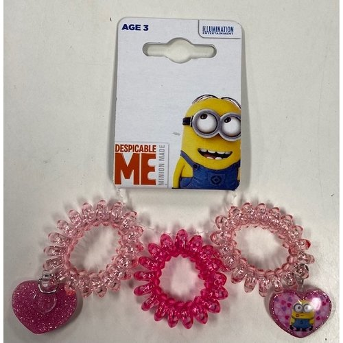 Minions Despicable Me Minion Made - Haarelastiek Kabel 3 Stuks