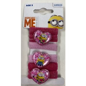 Minions Despicable Me Minion Made - Haarelastiek 6 Stuks