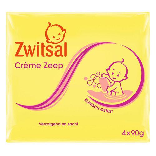 Zwitsal - Creme Zeep 4X90 Gram