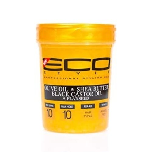 Eco Eco Styler Haargel - Olive Oil & Shea Butter & Black Castor Oil & Flaxseed 946ml