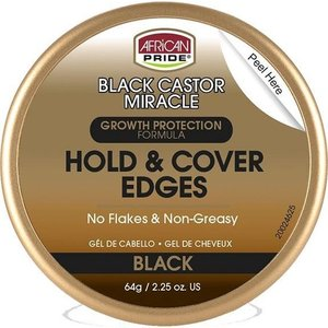 African Pride African Pride Black Castor Miracle Hold & Cover Edges - Growth Protection Formula 64gr