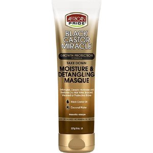 African Pride African Pride Black Castor Miracle Moisture & Detangling Masque - Growth Protection Formula Take Down 227gr