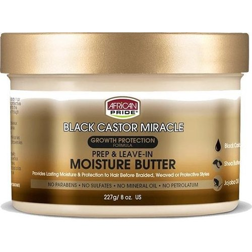 African Pride African Pride Black Castor Miracle Prep & Leave - In Moisture Butter -Growth Protection Formula 227gr